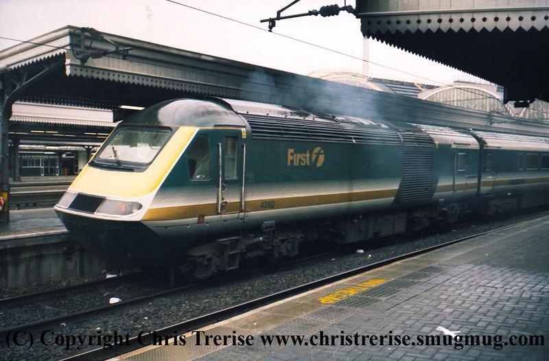 Class 43 HST Power Car number 43 182 at London Paddington.<br /> 9th June 2001