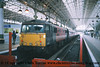 """Class 87/0 Electric Locomotive number 87 001 named """"Royal Scot"""" at Manchester Piccadilly.<br /> 16th April 2001"""