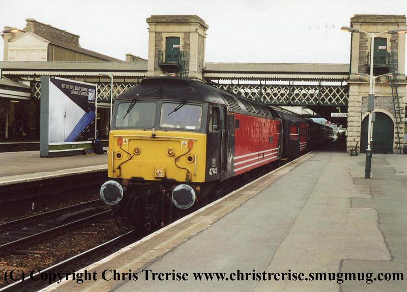 Class 47 at Exeter St Davids