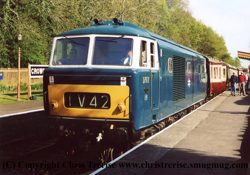 Class 35 Hymek at Crowcombe Heathfield