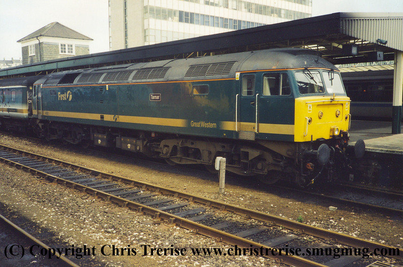 "Class 47/4 Diesel Locomotive number 47 832 named ""Tamar"" at Plymouth with the 1328 London Paddington to Penzance.<br /> 9th June 2002"