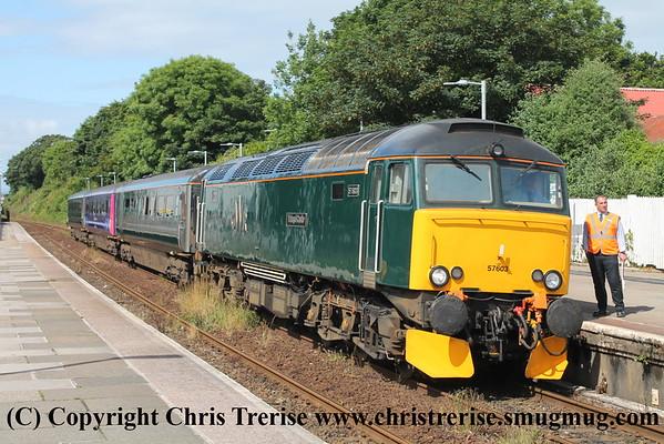 Class 57 at Camborne