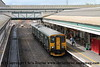Class 150/2 2 Car Sprinter DMU Set number 150 239 arrives at Exeter St Davids with 2B74 0953 Exmouth to Barnstaple.<br /> 24th August 2017