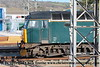 """Class 57/6 Diesel Locomotive number 57 603 named """"Tintagel Castle"""" stabled at Long Rock.<br /> 20th February 2018"""