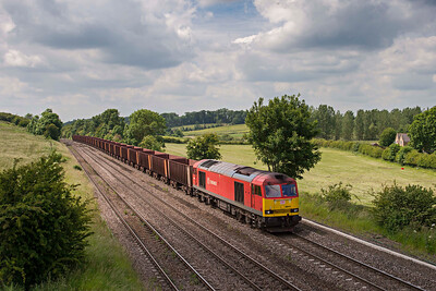DB 60010 on Santon to Immingham coal empties