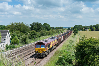 EWS 66116 heads past New Barnetby with a loaded coal train