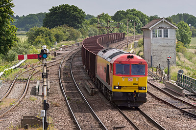 DB 60040 on Immingham to Santon ore empties