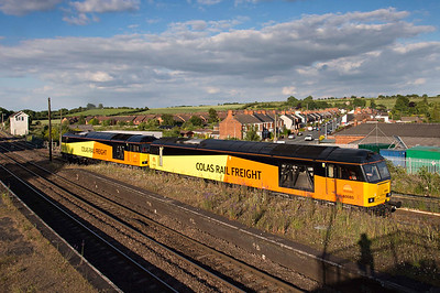 Colas 60085 & 60095 return home from Lindsey oil trains 2