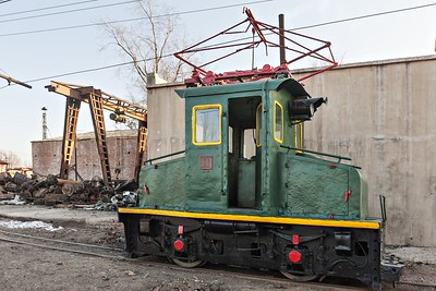 760mm electric steeple cab parked in the depot