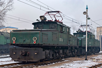 EL2 #2304 &#2310 at Hegang Electric Loco Depot