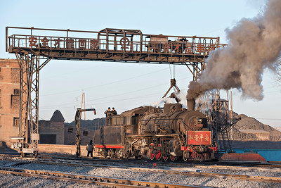 SY #1425 is coaled and watered in the evening sun