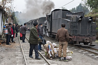 Passengers awaiting the train at Xiaorenjiang Sta