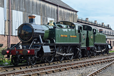 GWR 2-6-2T 4144 & 6106 parked alonside the shed