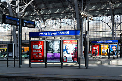 Prague Station Adverts