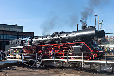 4-6-2 Class 03 2155-4 displayed on the turntable