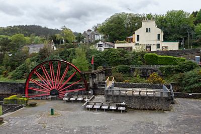 Lady Evelyn Wheel by the Laxey Mine Washing Floor