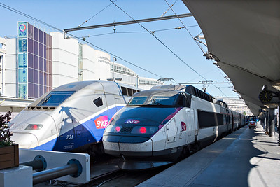 TGV generations at Paris Gare L'Oest
