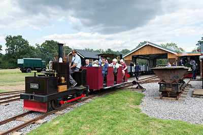 Richard enjoys a trip behind compound vertical boilered 0-4-0 Leary