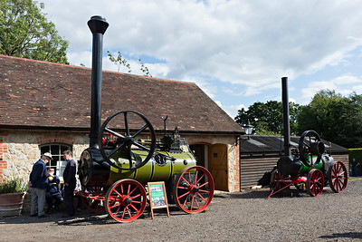 Portable agricultural engines behind main station