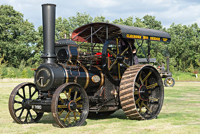 Big Fowler Traction Engine prepares to leave