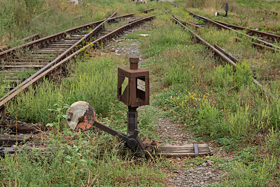 Old point lever at Balauseri Station