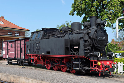 CLass 99-332 0-8-0 stored @ Kuhlungsborn Terminus