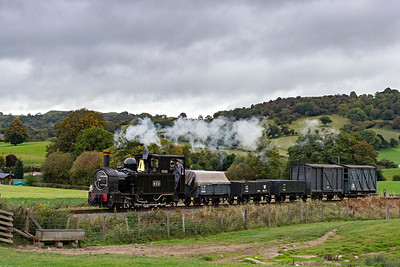 The Earl #822 in the country near Cyfronydd Sta with a Llanfair bound freight 3