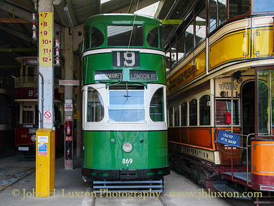 NATIONAL TRAMWAY MUSEUM, Crich, Derbyshire - July 17, 2010