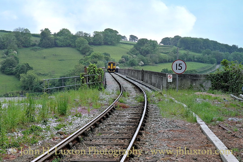 Class 150 Sprinter 150232 crosses the impressive Calstock Viaduct on the Tamar Valley Line operating the 13:45 Gunnislake to Plymouth service on May 29, 2014