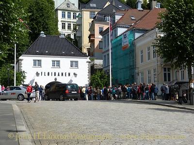 Queue for the Floibanan, Bergen, Norway - August 08, 2012
