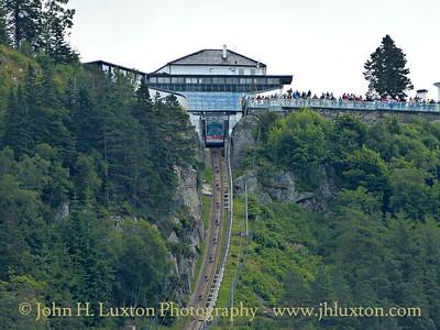 Floibanan, Bergen, Norway - August 08, 2012