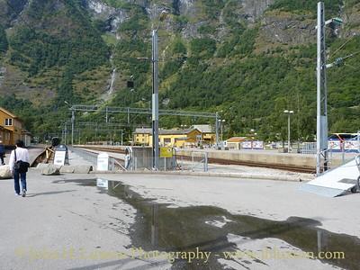 Flåmsbana, Flåm Station without trains - August 06, 2012