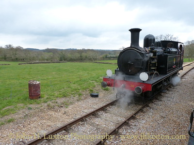 Adams 02 Class CALBOURNE at Wooton Station, April 08, 2012