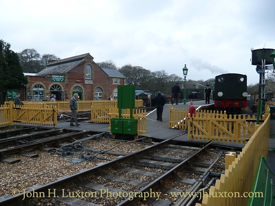 Haven Street Station, Isle of Wight Steam Railway, April 12, 2009.