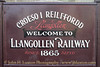 Welcome to Llangollen Railway - Llangollen Station - March 08, 2014.
