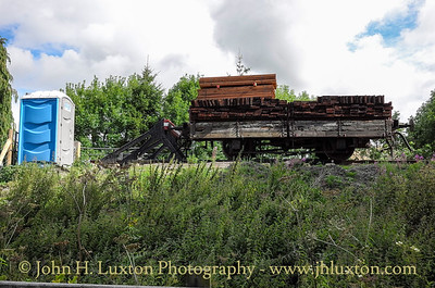 Corwen East Station under construction - August 14, 2014