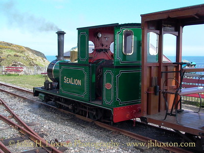 W.G. Bagnall built SEA LION of 1896 rests at Sea Lion Rocks Station after arriving from Lhen Coan on May 02, 2004.