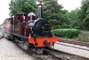 CALEDONIA arrives at Port Erin Station, Isle of Man Railway- August 17,2013