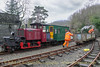 Wagons are gravity shunted out of one of the sidings at Tanybwlch - February 18, 2014.
