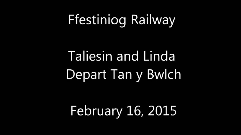 TALIESIN and LINDA depart Tan y Bwlch on February 16, 2015
