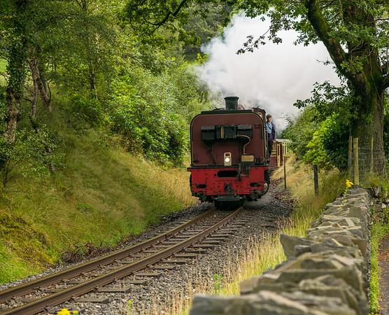 Beyer Garret NGG16 138 operating the 10:00 Portmadog to Caernarfon Train at Bryn-y-Felin