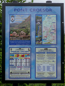 Information board at Pont Croesor Station