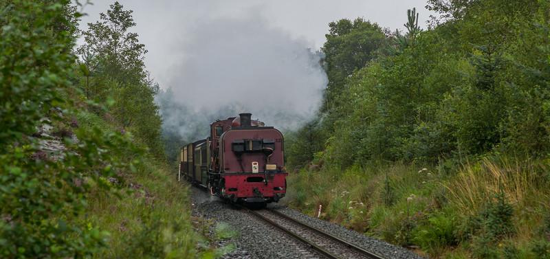 Beyer Garret NGG16 138 operating the 10:00 Portmadog to Caernarfon Train near Pont Cae'r Gors