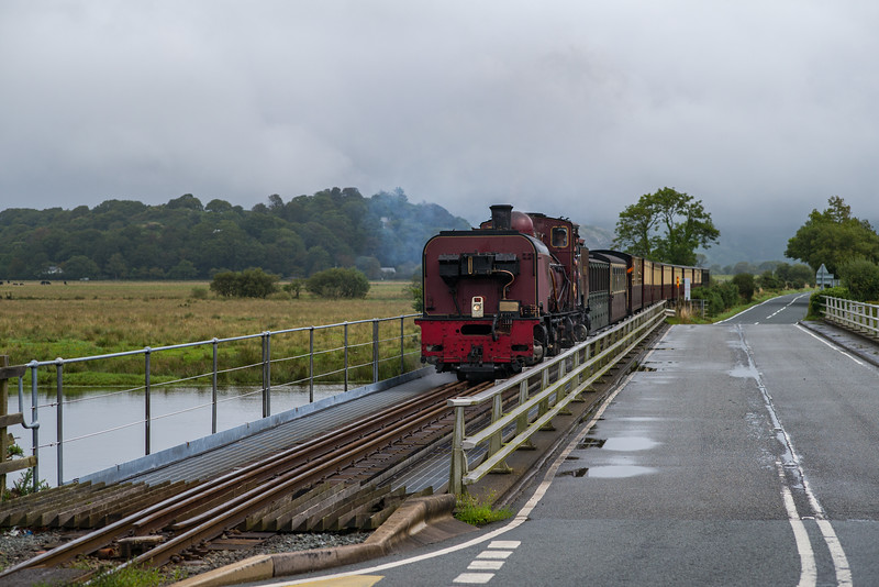 Beyer Garret NGG16 138 operating the 10:00 Portmadog to Caernarfon Train at Pont Croesor.