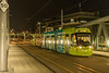 Bombardir 211 arriveing at the Nottingham staion tram stop