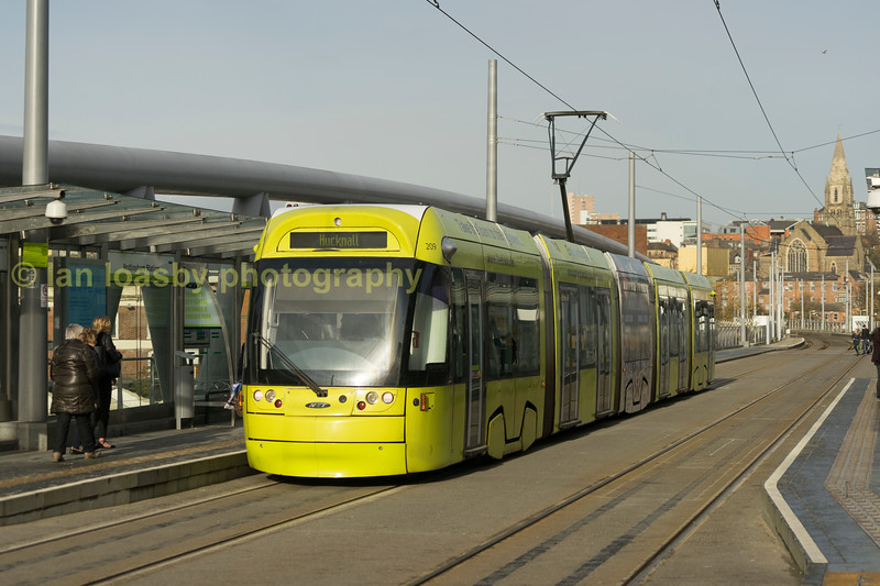 209 at the Nottingham Railway station stop