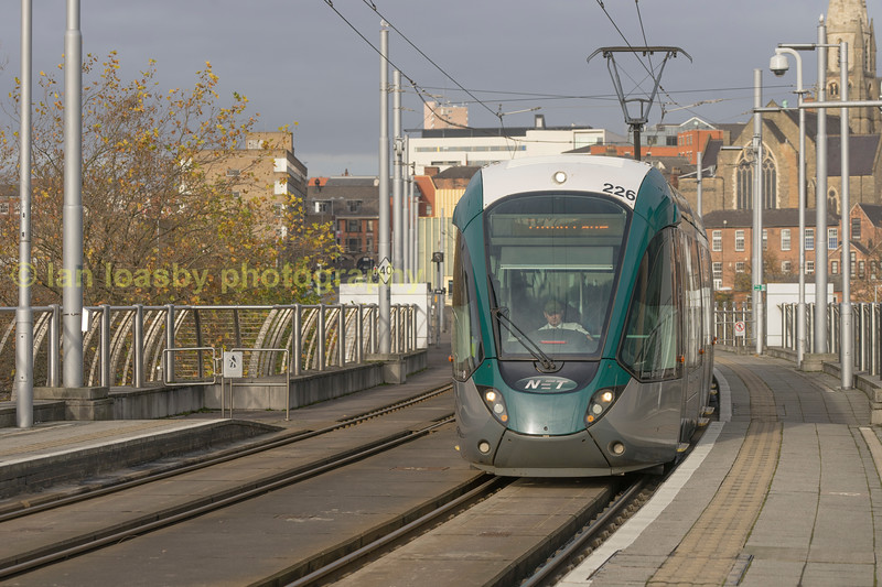 Citidas 226 arrives into the Nottingham station stop