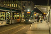 Nottingstation tram stop with Alstrom 224 ans an uidentified classmate meeting
