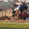 Hunslet 0-6-0 Austerity 'Wimblebury' on a photo-charter at Foxfield