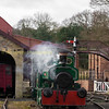 Andrew Barclay  0-4-0 No 807 'Bon Accord', ex Aberdeen Gas works loco built in 1897 at caledonia works duing a photo charter on the rowley branch BEAMISH MUSEUM 17-03-17